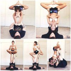 Yoga poses for couples boyfriends namaste 46 Ideas Couples Yoga Poses, Acro Yoga Poses, Partner Yoga Poses, Yoga Moves, Bikram Yoga, Couple Yoga, Arco Yoga, Esprit Yoga, Photo Yoga