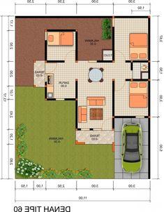 Denah Rumah Minimalis Type 45 3 Kamar Tidur Check more at http://desainrumahkita.net/denah-rumah-minimalis-type-45-3-kamar-tidur/