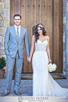 The Mentalist's Owain Yeoman Marries Gigi Yallouz at Malibu Rocky Oaks. Wedding by Luxury Estate Weddings and Events.