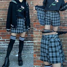 edgy outfits for high school Hipster Outfits, Preppy Outfits, Girly Outfits, Grunge Outfits, Cute Casual Outfits, Short Outfits, Fashion Outfits, Preppy Grunge, Preppy Dresses