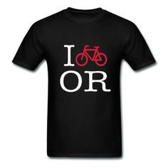 I Bike Oregon Men's T-shirt on Sale-Vehicles T-shirts with 98% happy customers! Create custom shirts and personalized goods at http://hicustom.net/ ,Use our online designer to add your design, logos, or text. easily!