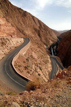 mountain pass in Dades Gorges Morocco