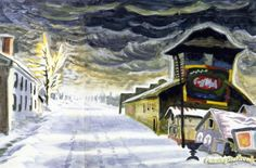 Clearing After a Snowstorm Artwork by Charles Burchfield Hand-painted and Art Prints on canvas for sale,you can custom the size and frame