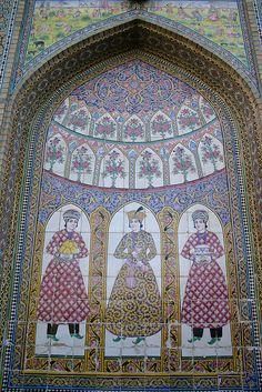 Qajar tiles, Bagh-e Narenjestan, Shiraz, Iran | Flickr - Photo Sharing!