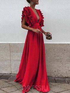 b503166765c7 Patchwork V-Neck Floor-Length High Waist Summer Dress. Maxi RobesV Neck  Prom DressesCheap ...