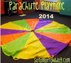 so tomorrow: Parachute Playtime Round Two! Gross Motor Activities, Gross Motor Skills, Parachute Games, Lets Play Music, Get On Up, Indoor Recess, Round Two, Music And Movement, Music Education