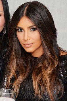 New Hair Color Highlights For Brunettes Balayage Kim Kardashian Ideas Brown Hair Caramel Balayage, Balayage Hair Dark Short, Brown Ombre Hair, Ombre Hair Color, Hair Color Balayage, Cool Hair Color, Hair Colors, Balayage Hairstyle, Blonde Hair