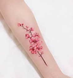 Cherry Blossom Tattoo Designs & Ideas to Try in 2020 - Tattoo Stylist Bild Tattoos, Mom Tattoos, Cute Tattoos, Body Art Tattoos, Small Tattoos, Tattos, Tattoo Designs, Floral Tattoo Design, Pretty Tattoos