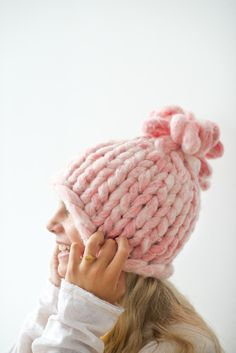 Free chunky knitting patterns including this loopy mango hat pattern.