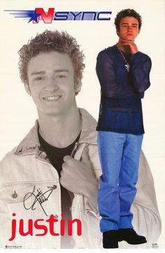 NSync N Sync Justin Timberlake 2000 Rare Original Music Poster 5ff82b358d8