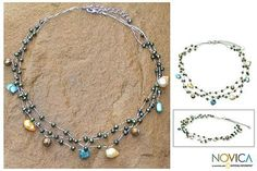 Pearl choker, 'Summer Glow'. Shop from #UNICEFMarket and help save the lives of children around the world.