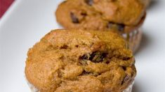 These easy pumpkin muffins are loaded with spices and chocolate chips and make a delicious fall treat.