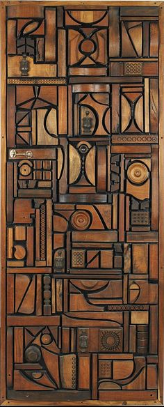Artwork, 1975, Mabel Hutchinson, Mixed Wood  Found Objects, USA / Gosh! That is just amazing.