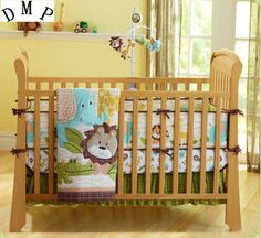 Bedding Sets 3 Pieces Lovely Baby Crib Bedding Set Cute Animal Lion Deer Tree Baby Bedding Set Cot Sheets Cuna Bumper Ropa De Cuna Kit Berco Be Novel In Design Mother & Kids