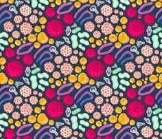 our colorful intestinal microbiome – medium fabric by colorofmagic on Spoonflower - custom fabric