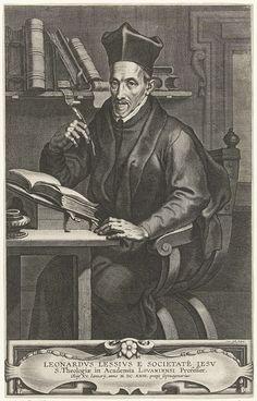 Portret van de jezuiët Leonard Lessius, Cornelis Galle (II), Cornelis Galle (I), Peter Paul Rubens, na 1623 - 1678