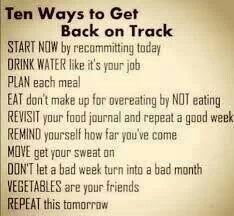 Ten ways to get back on track...