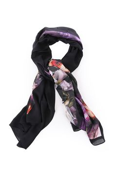 d08bf99af29e ted baker womens accessories preata shadow floral split scarf Ted Baker  Accessories