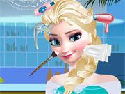 Free Online Girl Games, Elsa needs a makeover before she meets her prince!  Help Elsa wash and style her hair before she heads out on her date!  In Elsa Beauty Salon, you'll have a chance to choose several fun new hairstyles after you finish with the makeover!, #elsa #frozen #salon #makeover #girl
