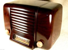 Ultra RARE 1947 Clarion Art Deco Bakelite Tube Radio Tiny Gem | eBay