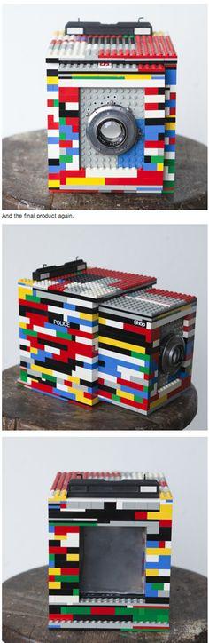 """Cary Norton's """"LEGOTRON"""" the camera features a 127mm ƒ4.7"""