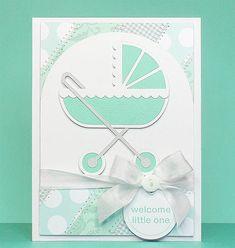 cartão de carrinho de bebê…