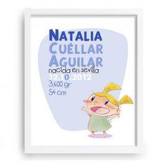 Cuadro infantil - Datos del nacimiento personalizable - www.babyprint.es