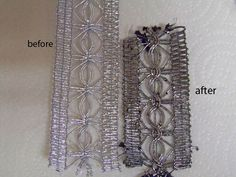 De-Bling-ification: working with metallic trims for authentic looking gowns