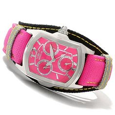619-929 - Invicta Women's Lupah Couture Quartz Stainless Steel Leather Strap Watch