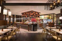 Restaurant Design, Restaurant Bar, Meeting Room Hotel, Executive Room, Counter Design, Grand Hyatt, Resort Villa, Bar Lounge, Commercial Kitchen