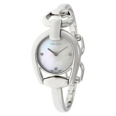 85828055f87 Horsebit Collection Mother of Pearl Dial Stainless Steel Ladies Watch