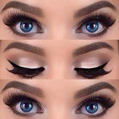 Eyelashes and liner