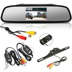 Dagaanbieding: €54,95 ipv €79,95 - Draadloos achteruitkijkspiegel met camera: de ideale parkeerhulp!