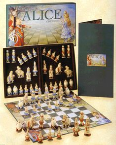 5c570dfc71a Alice in Wonderland Chess Set based on the original John Tenniel drawings  Adventures In Wonderland
