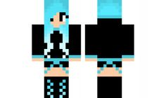 minecraft skin Blue-Girl-Edited