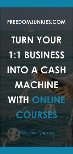 You may or may not know that I created an online course business model that now provides a multiple 6 figure income. There is no way I could have achieved the same income with a 1:1 business model… even if I charged top dollar! // Freedom Junkies