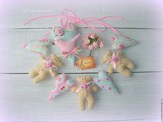 Купить Гирлянда в стиле шебби шик - бледно-розовый, гирлянда, гирлянда для фотосессии, гирлянда из сердечек