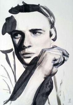 """NOBODY TELLS ME WHAT TO DO"" / Marlon Brando portrait by Jody Little"
