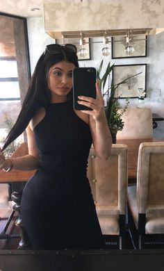 Uploaded by i'm a jenner. Find images and videos about black, kylie jenner and kylie on We Heart It - the app to get lost in what you love. Kylie Jenner Snapchat, Kylie Jenner Outfits, Photoshoot Kylie Jenner, Photos Kylie Jenner, Kendall E Kylie Jenner, Trajes Kylie Jenner, Looks Kylie Jenner, Kylie Jenner Style, Kylie Jenner Makeup