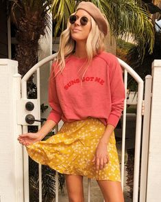 Add a little more sunshine in this summer yellow skirt ☀️ 🌸  Short Skirts, Mini Skirts, Body Measurements, Billabong, New Product, Feminine, Boutique, Clothes For Women, Yellow