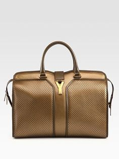 Yves Saint Laurent  YSL Cabas Chyc Perforated Large East West Bag