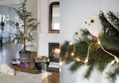 a very Scandinavian christmas. love the tree in the metal bucket.think i might do that this year Scandinavian Christmas Decorations, Nordic Christmas, Christmas Love, Xmas, Christmas Ideas, Nordic Design, Scandinavian Design, Holiday Crafts, Holiday Decor