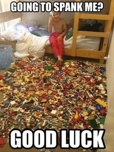 Lego minefield?  Well played