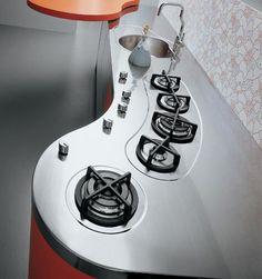 Fogão Cooktop de Cozinha Moderna