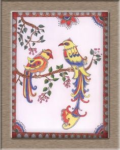 Color Pencils- Madhubani Painting Completed