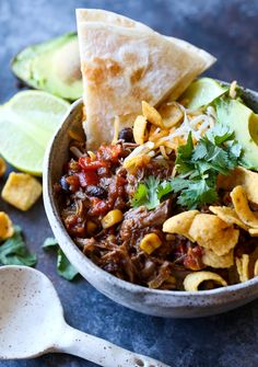 Crock-Pot® Taco Truck Chili is the perfect fall dish! It has all the flavors of a taco, and the toppings are really where you make it your own! It's like a deconstructed taco!