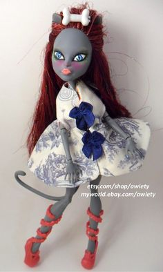 WONDERFUL Custom Doll with SUPER Soft Silk Hair :) Monster High Doctor Doctor Cape OOAK Doll Custom Clothes by awiety, $18.50