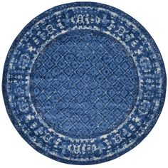 Eugenia Light Blue/Dark Blue Area Rug