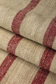 Wonderful , heavy hemp ~ homespun European feedsack ~ grain sack! Lovely deep tones ~ from The Textile Trunk ~ www.textiletrunk.com