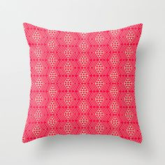 Red and Tan Tribal Throw Pillow by HomeDecorKATNAWLINS on Etsy, $28.00